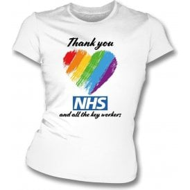 Thank You NHS (Rainbow Heart) Womens Slim Fit T-Shirt