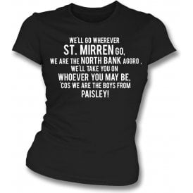 The Boys From Paisley (St. Mirren) Womens Slim Fit T-Shirt