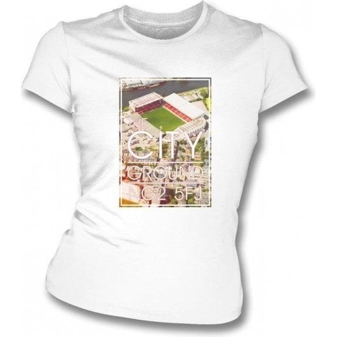 The City Ground NG2 5FJ (Nottingham Forest) Women's Slim Fit T-shirt