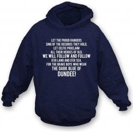 The Dark Blue Of Dundee Kids Hooded Sweatshirt