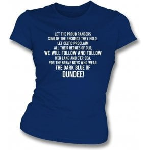 The Dark Blue Of Dundee Womens Slim Fit T-Shirt
