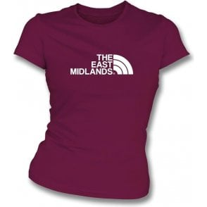 The East Midlands (Northampton Town) Womens Slim Fit T-Shirt