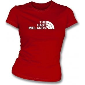 The East Midlands (Nottingham Forest) Women's Slim Fit T-Shirt