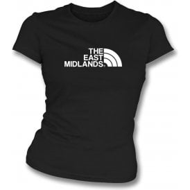 The East Midlands (Notts County) Womens Slim Fit T-Shirt