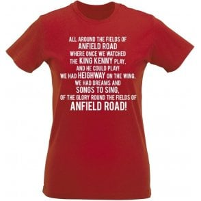 The Fields Of Anfield Road (Liverpool) Womens Slim Fit T-Shirt