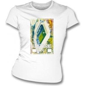 The Hawthorns B71 4LF (West Bromwich Albion) Women's Slim Fit T-shirt