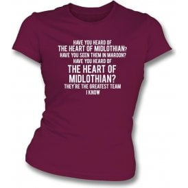 The Hearts Of Midlothian Womens Slim Fit T-Shirt