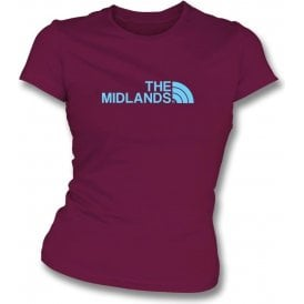 The Midlands (Aston Villa) Womens Slim Fit T-Shirt