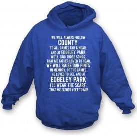 The Scarf My Father Wore (Stockport County) Hooded Sweatshirt