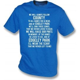 The Scarf My Father Wore (Stockport County) Kids T-Shirt