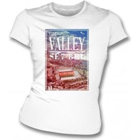 The Valley SE7 8BL (Charlton Athletic) Womens Slimfit T-Shirt