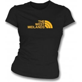 The West Midlands (Wolverhampton Wanderers) Womens Slim Fit T-Shirt