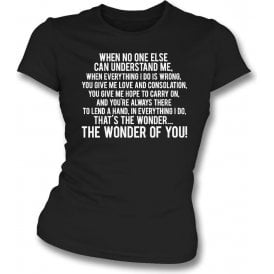 The Wonder Of You (Port Vale) Womens Slim Fit T-Shirt