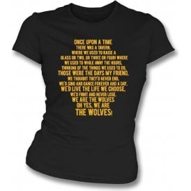 Those Were The Days (Wolves) Womens Slim Fit T-Shirt