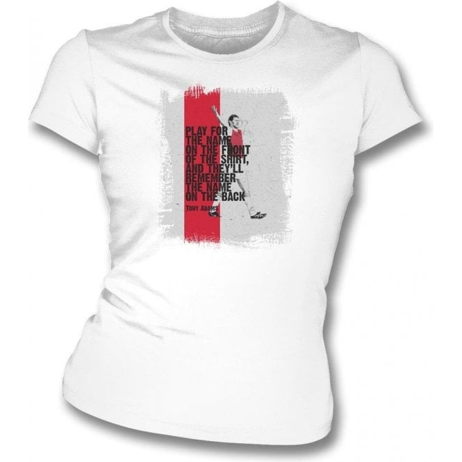 Tony Adams (Arsenal) Quote Womens Slim Fit T-Shirt