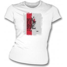 Tony Adams (Arsenal) Quote Womens Slim Fit T-Shirt