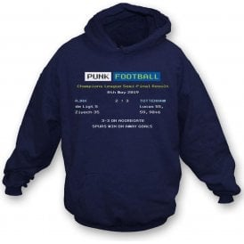 Tottenham Hotspur 2019 Ceefax (Champions League Semi Final) Hooded Sweatshirt