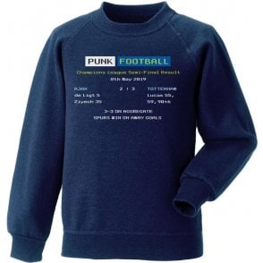 Tottenham Hotspur 2019 Ceefax (Champions League Semi Final) Kids Sweatshirt