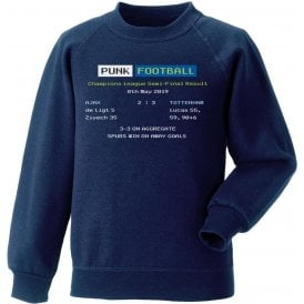 Tottenham Hotspur 2019 Ceefax (Champions League Semi Final) Sweatshirt