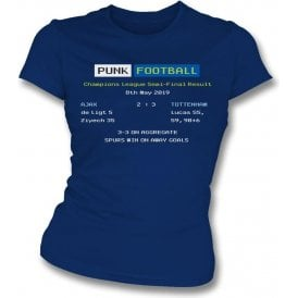 Tottenham Hotspur 2019 Ceefax (Champions League Semi Final) Womens Slim Fit T-Shirt