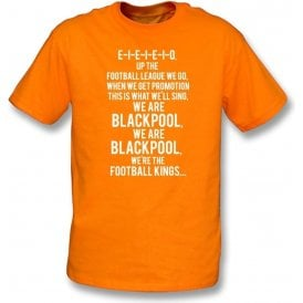 Up The Football League We Go (Blackpool) Kids T-Shirt