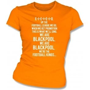 Up The Football League We Go (Blackpool) Womens Slim Fit T-Shirt