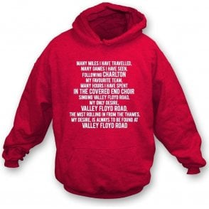 Valley Floyd Road (Charlton Athletic) Hooded Sweatshirt