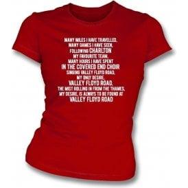 Valley Floyd Road (Charlton Athletic) Womens Slim Fit T-Shirt