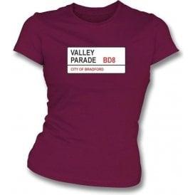 Valley Parade BD8 Women's Slimfit T-Shirt (Bradford City)