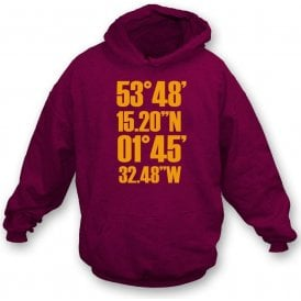 Valley Parade Coordinates (Bradford City) Kids Hooded Sweatshirt