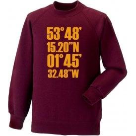 Valley Parade Coordinates (Bradford City) Sweatshirt