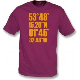 Valley Parade Coordinates (Bradford City) T-Shirt