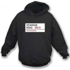 Vicarage Road WD18 Hooded Sweatshirt (Watford)