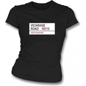 Vicarage Road WD18 Women's Slimfit T-Shirt (Watford)