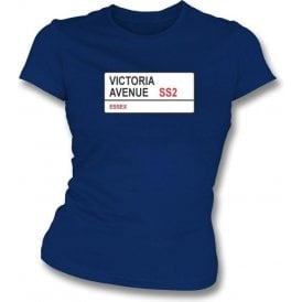 Victoria Avenue SS2 Women's Slimfit T-Shirt (Southend United)