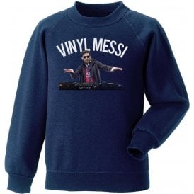 Vinyl Messi (Barcelona) Kids Sweatshirt