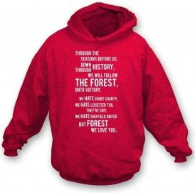 We All Follow the Forest Hooded Sweatshirt (Nottingham Forest)