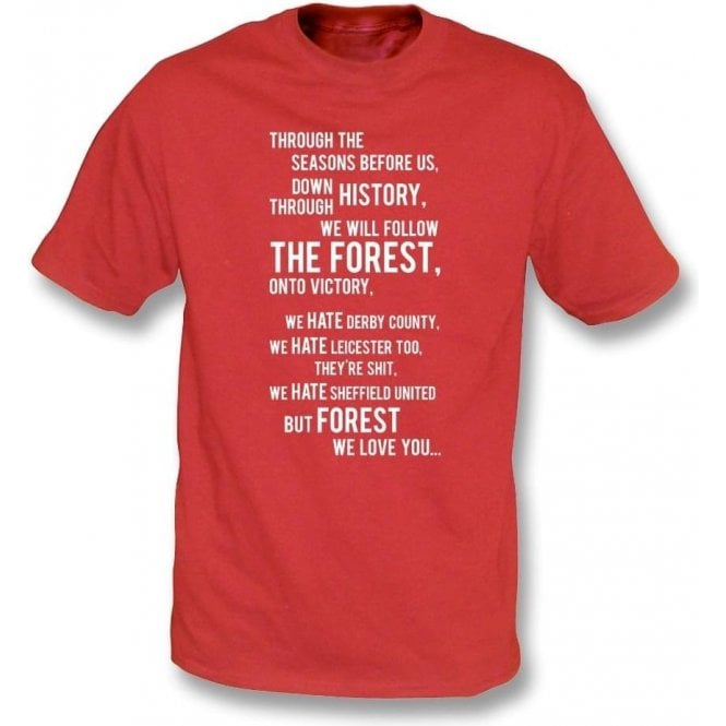 We All Follow The Forest T-Shirt (Nottingham Forest)