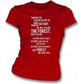 We All Follow the Forest Womens Slim Fit T-Shirt (Nottingham Forest)