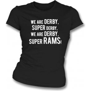 We Are Derby Womens Slim Fit T-Shirt (Derby County)