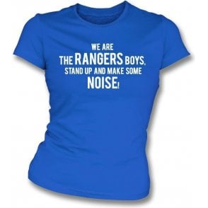 We Are The Rangers Boys Womens Slim Fit T-Shirt (Queens Park Rangers)