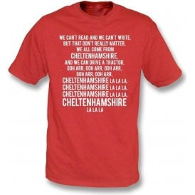 We Can't Read (Cheltenham Town) Kids T-Shirt