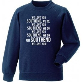 We Love You Southend Sweatshirt