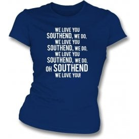 We Love You Southend Womens Slim Fit T-Shirt