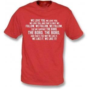 We Love You (Stevenage) Kids T-Shirt