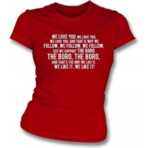 We Love You (Stevenage) Womens Slim Fit T-Shirt