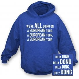 We're All Going On A European Tour Kids Hooded Sweatshirt (Leicester City)
