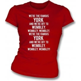 We're The Famous York Womens Slim Fit T-Shirt