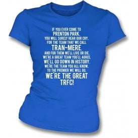We're The Great TRFC (Tranmere Rovers) Womens Slim Fit T-Shirt