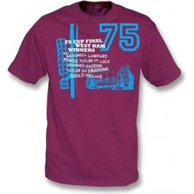 West Ham 1975 FA Cup Final t-shirt